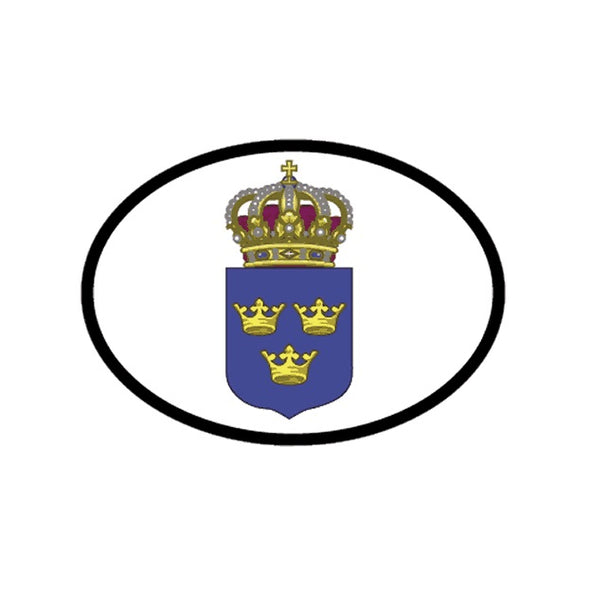 Swedish Crown Vinyl Car Decal