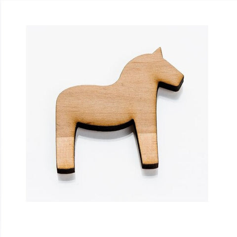 Wooden Fridge Magnet - Dala Horse