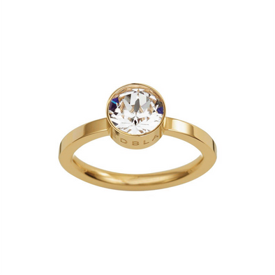 Diana Ring Clear Crystal Gold