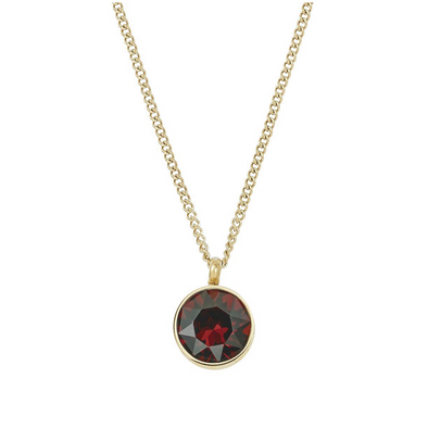Diana Necklace Plum Gold