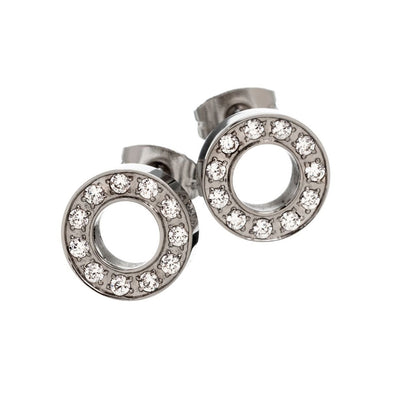 Eternity Stud Earrings - Steel