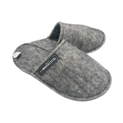 Wool Slippers - Grey