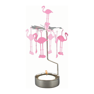Flamingos - Rotating Carousel Candle Holder
