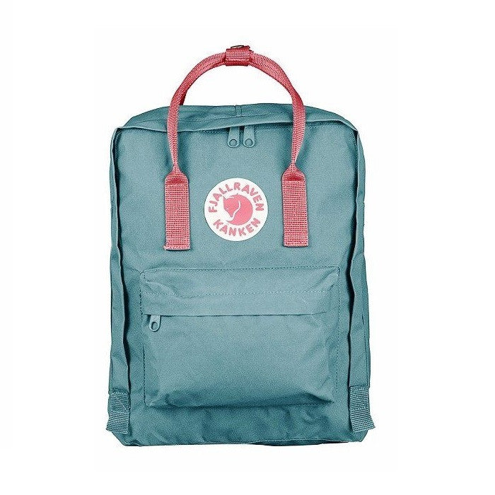 Fjallraven Kanken Classic Backpack – Frost Green & Peach Pink