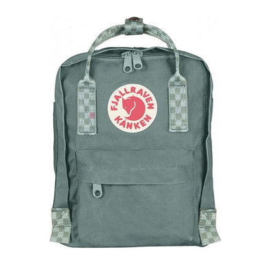Frost Green Chess Pattern -Mini  Fjallraven Kanken Backpack