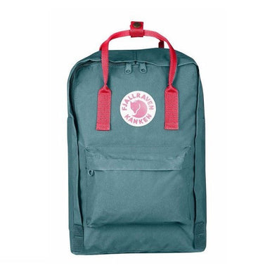 "Frost Green & Peach Pink - 15"" Laptop Fjallraven Kanken Backpack"