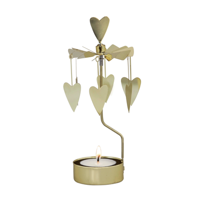 Golden Heart - Rotating Carousel Candle Holder
