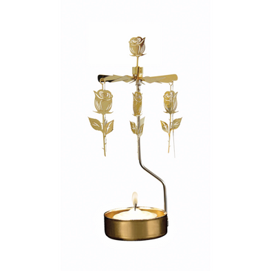 Roses Gold - Rotating Carousel Candle Holder