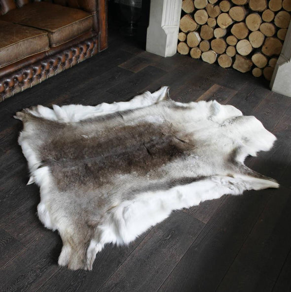 Premium Quality Large #217 Authentic Tanned Reindeer Hide from Lapland