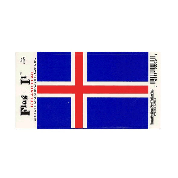 Iceland Flag Vinyl Car Decal