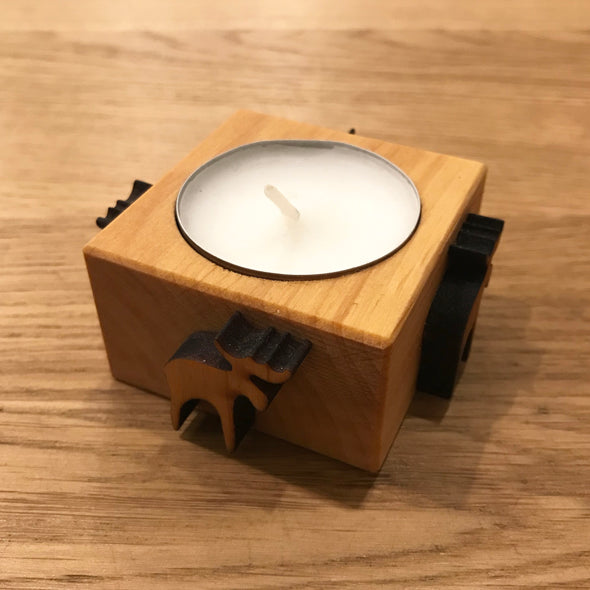 Moose Wooden Tealight Candle Holder