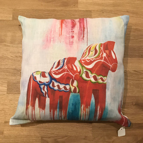 Pillow Case - Modern Dala Horse