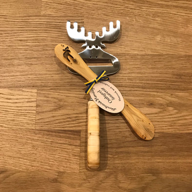 Moose Cheese Slicer & Butter Knife Gift Set