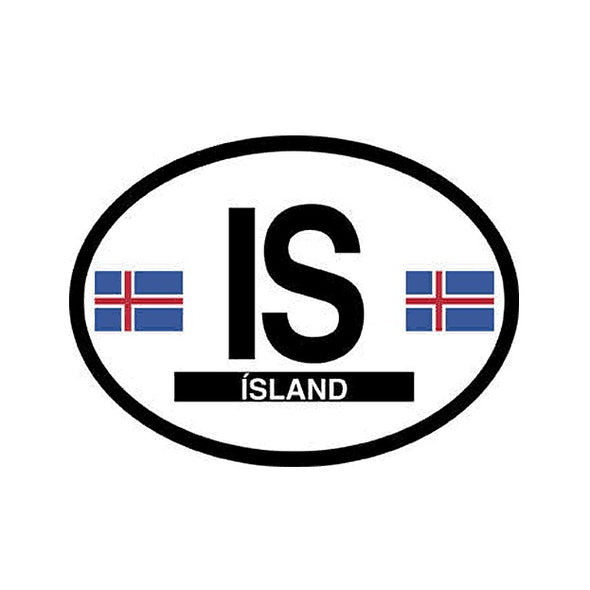 Island (Iceland) Vinyl Car Decal