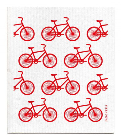 Bikes - Red - The Amazing Swedish Dish Cloth