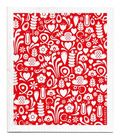 Red - Dala - The Amazing Swedish Dishcloth