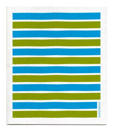 Turquoise Green Stripe - The Amazing Swedish Dishcloth