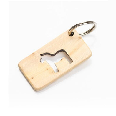 Dala Cut Out Horse Wooden Key Ring