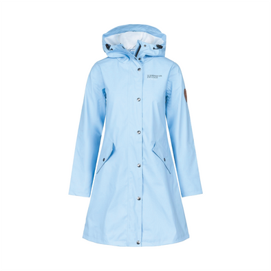 Rain Coat - Womens - Light Blue