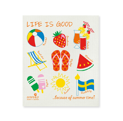 Life is Good - Summer - The Amazing Swedish Dish Cloth