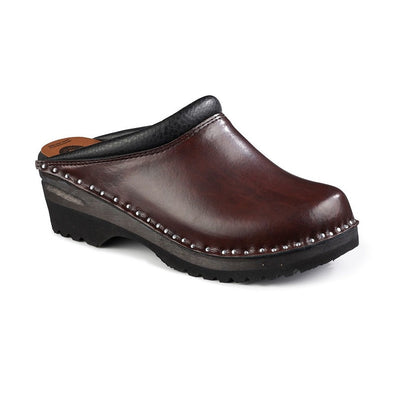 Monet Black Cherry - Womens - Troentorp Bastad Handmade Clogs