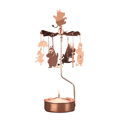Moomin Family Copper - Rotating Carousel Candle Holder