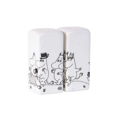 Moomin Salt and Pepper Shakers White/Black