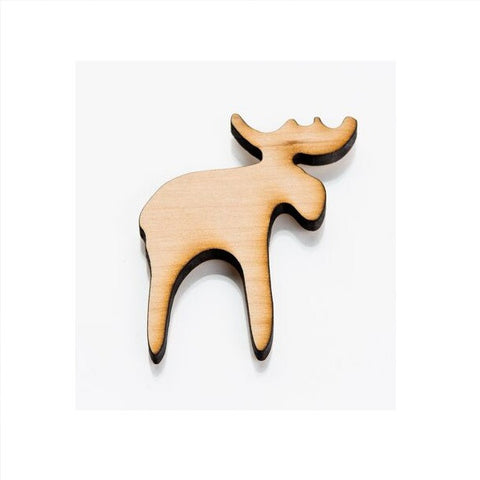 Wooden Fridge Magnet - Moose