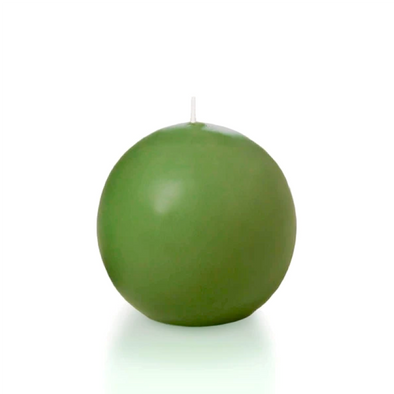 Ball Candle | Set of 4 candles | Moss Green