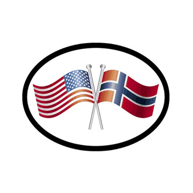 America/Norway Flags Vinyl Car Decal