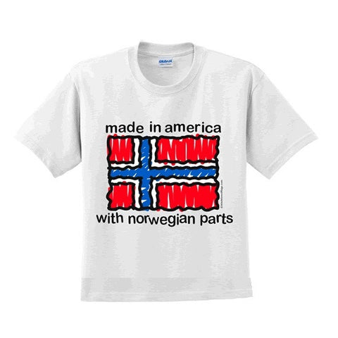 Made in America with Norwegian parts T-Shirt - Baby Kids Size