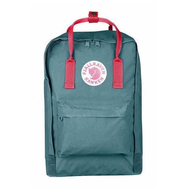 "Fjallraven Kanken Laptop Backpack 17"" – Frost Green & Peach Pink"