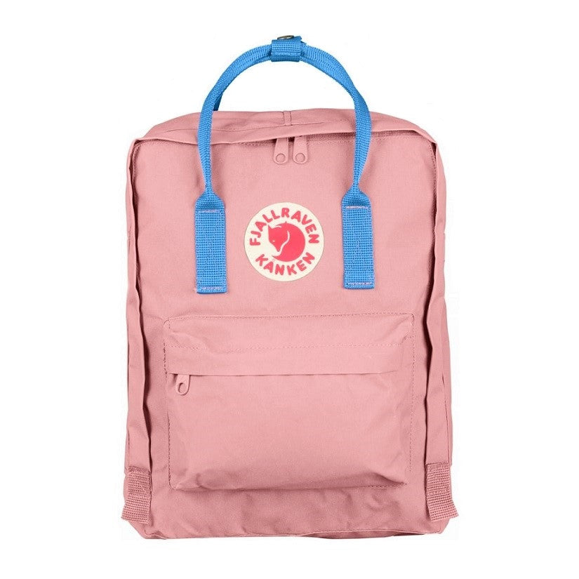 Fjallraven Kanken Classic Backpack – Pink with Air Blue straps