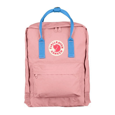 Pink with Air Blue straps - Classic Fjallraven Kanken Backpack