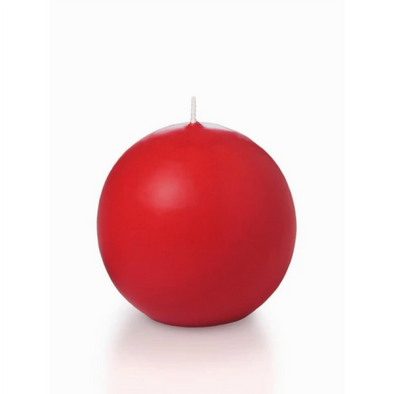 Ball Candle | Set of 4 candles | Red