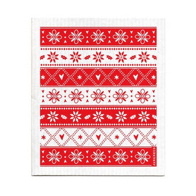 Knit Pattern - Red - The Amazing Swedish Dish Cloth