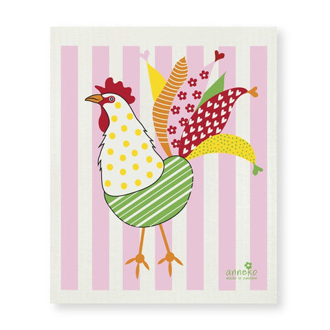 The Amazing Swedish Dish Cloth - Colorful Rooster