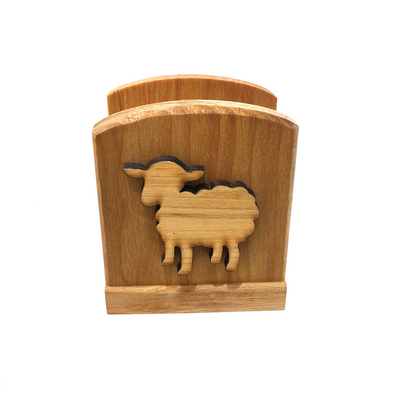 Sheep Wooden Napkin Holder