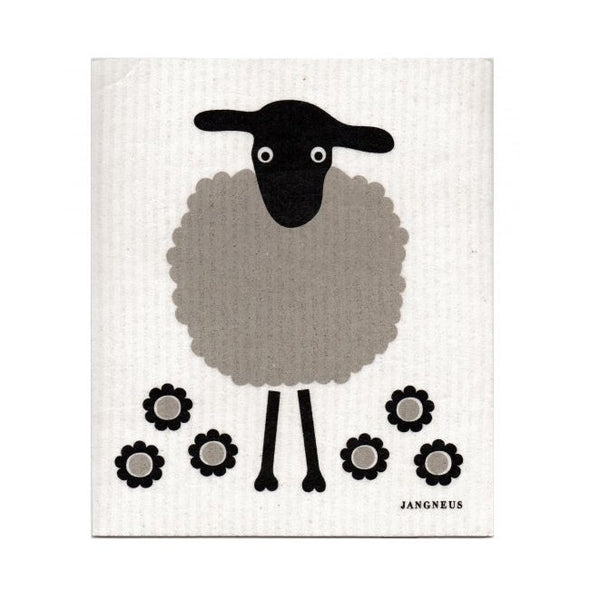 Sheep - Black and Grey - The Amazing Swedish Dish Cloth