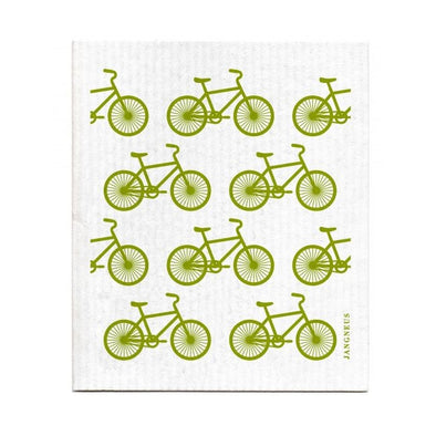 Bikes - Green - The Amazing Swedish Dish Cloth