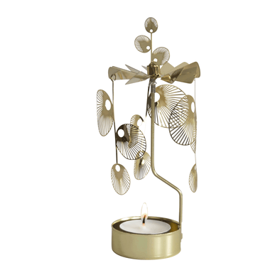 Gold Sun - Rotating Carousel Candle Holder