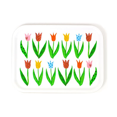 Tulips - Birch Wood Serving Tray
