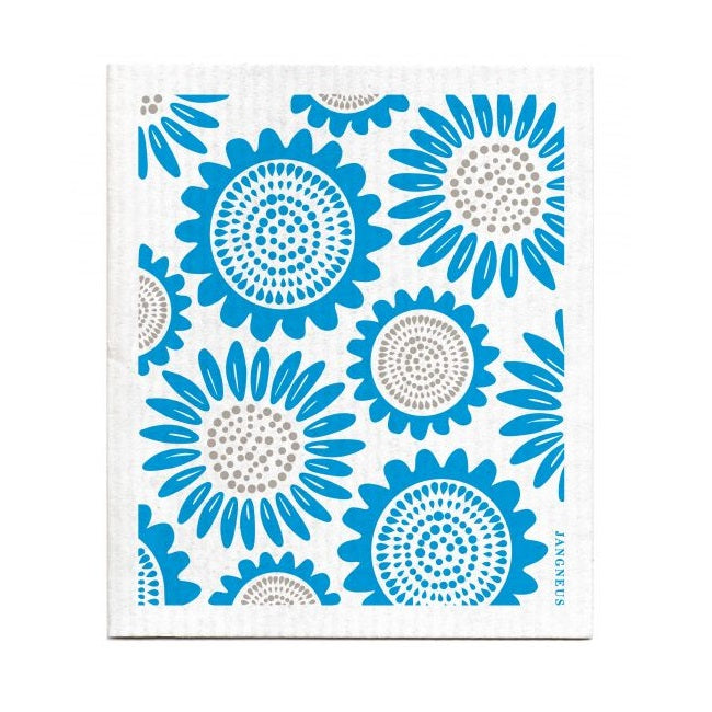 The Amazing Swedish Dish Cloth - Turquoise Sunflower