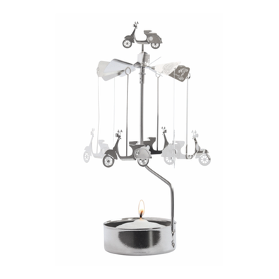 Vespas - Rotating Carousel Candle Holder