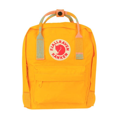 Warm Yellow & Random Blocked - Mini Fjallraven Kanken Backpack