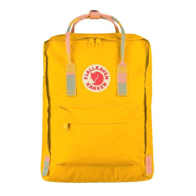 Warm Yellow & Random Blocked - Classic Fjallraven Kanken Backpack