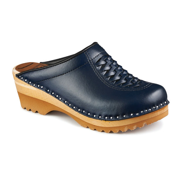 Wright Dark Blue - Womens - Troentorp Bastad Handmade Clogs