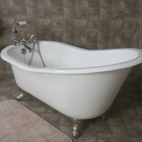 Cambridge Plumbing Cast Iron Slipper Clawfoot Tub 61 X 30 BathV