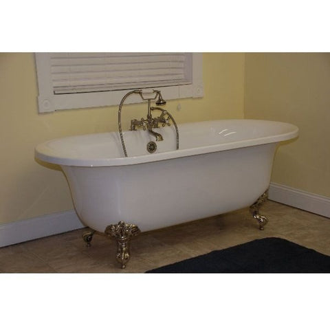nickel eden in satin aqua home bathtubs faucet footed clawfoot depot bath white freestanding cast compressed iron the n b combo bathtub and