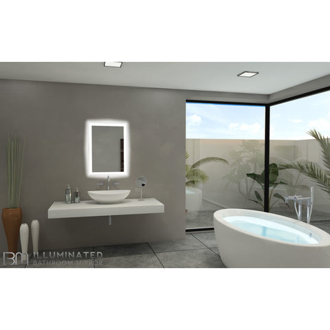 IBMirror Illuminated Vanity Mirror - Paris Rectangle 110V